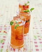 Glasses of Strawberry Lemonade