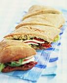 Caprese BLT Sandwich on Ciabatta Bread