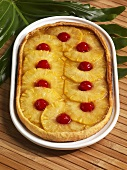 Pineapple and Brown Sugar Galette with Maraschino Cherries