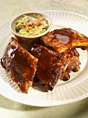 Baby Back Ribs with Cole Slaw