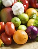 Fresh Fruit and Vegetable Still Life