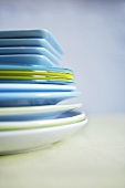 Stack of Various Sized Plates