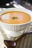 Creamy Tomato Soup with Chive Garnish