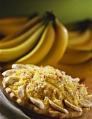 Whole Banana Cream Pie with Fresh Bananas