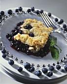 Serving of Blueberry Cobbler