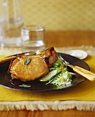 Pork Chop with Apple Salad