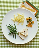 Childs Dinner of Chicken and Vegetables