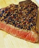 Peppered Steak; Sliced