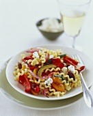 Pasta with Roasted Vegetables and Goat Cheese