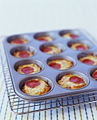 Mini Pepperoni Pizzas in Muffin Tin