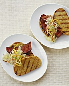 Grilled Sausage and Slaw Sandwiches