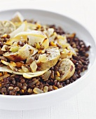 Lentil Salad with Sausage and Onion