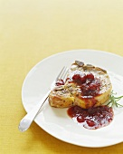 Pork Chop with Cranberry Chutney