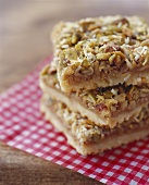 Granola Cookie Squares; Stacked