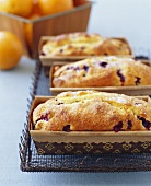 Mini Orange and Blueberry Loaves of Bread
