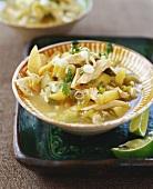 Bowl of Southwestern Chicken Tortilla Soup