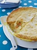 Chicken Pot Pie with Slice Removed
