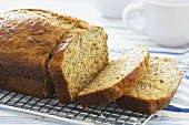 A Partially Sliced Loaf of Banana Bread