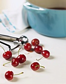 Cherries; Pot; Pitter