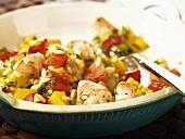 Bowl of Shrimp and Corn Salad