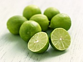 Halved Key Lime with Whole Key Limes