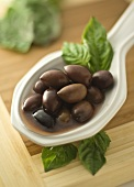 Spoonful of Kalamata Olives