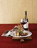 Lamb Chop Dinner with Red Wine
