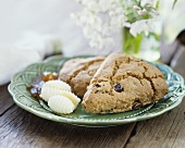 Ginger Currant Scones with Butter Curls