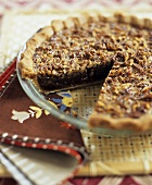 Pecan Pie with Slice Removed