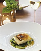 Miso Glazed Cod with Baby Bok Choy and Edamame
