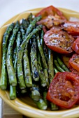 Platter of Gilled Asparagus and Tomatoes