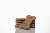 Stack of Homemade Organic Dog Cookies