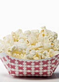 Low Sodium Popcorn in a Cardboard Container