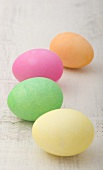Four Dyed Easter Eggs