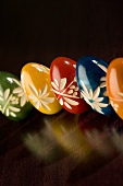 Colorful Hand Crafted Wooden Easter Eggs