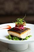 Glazed Wild King Salmon Dish with Garnish