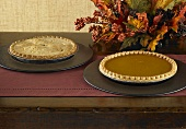 Two Whole Pies on Autumn Buffet