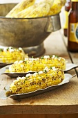 Latin Style Corn on the Cob with Goat Cheese and Cilantro