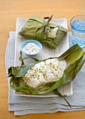 Cod Cooked in Banana Leaves