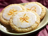 Three Lemon Cookies with Mandarin Orange Zest