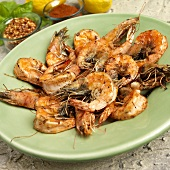 Whole Shrimp Sauteed in Bacon Fat