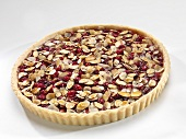 Whole cranberry almond caramel tart