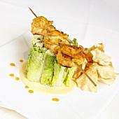 Shrimp Caesar Salad with Pita Chips