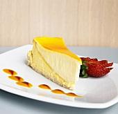 Slice of Mango Cheesecake