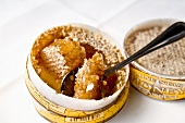 Honey Comb in Container with Spoon