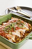 Stuffed Lasagna Made with Tufoli