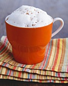 Mug of Steamed Milk with Nutmeg