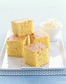 Cornbread Squares with Whipped Butter