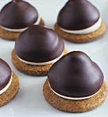 Mini Chocolate Covered Marshmallow Cookies
