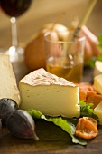 Wedge of Cheese with Fruit